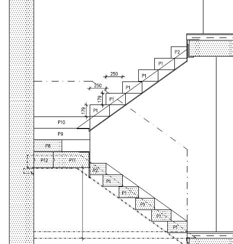 Рисунок 2 Пример открытой снизу лестницы
